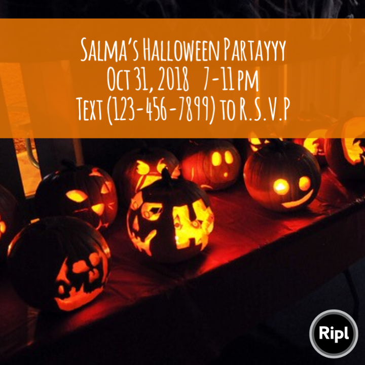 host halloween party budget friendly invite