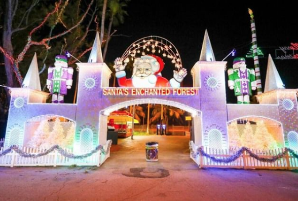 santa's enchanted forest miami