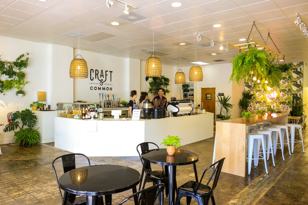 interior of craft and common coffee shop